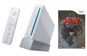 Nintendo Wii Console + The Legend Of Zelda: Twilight Princess Bundle