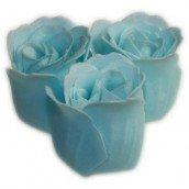 3 Ocean Bath Confetti Roses in Heart Box