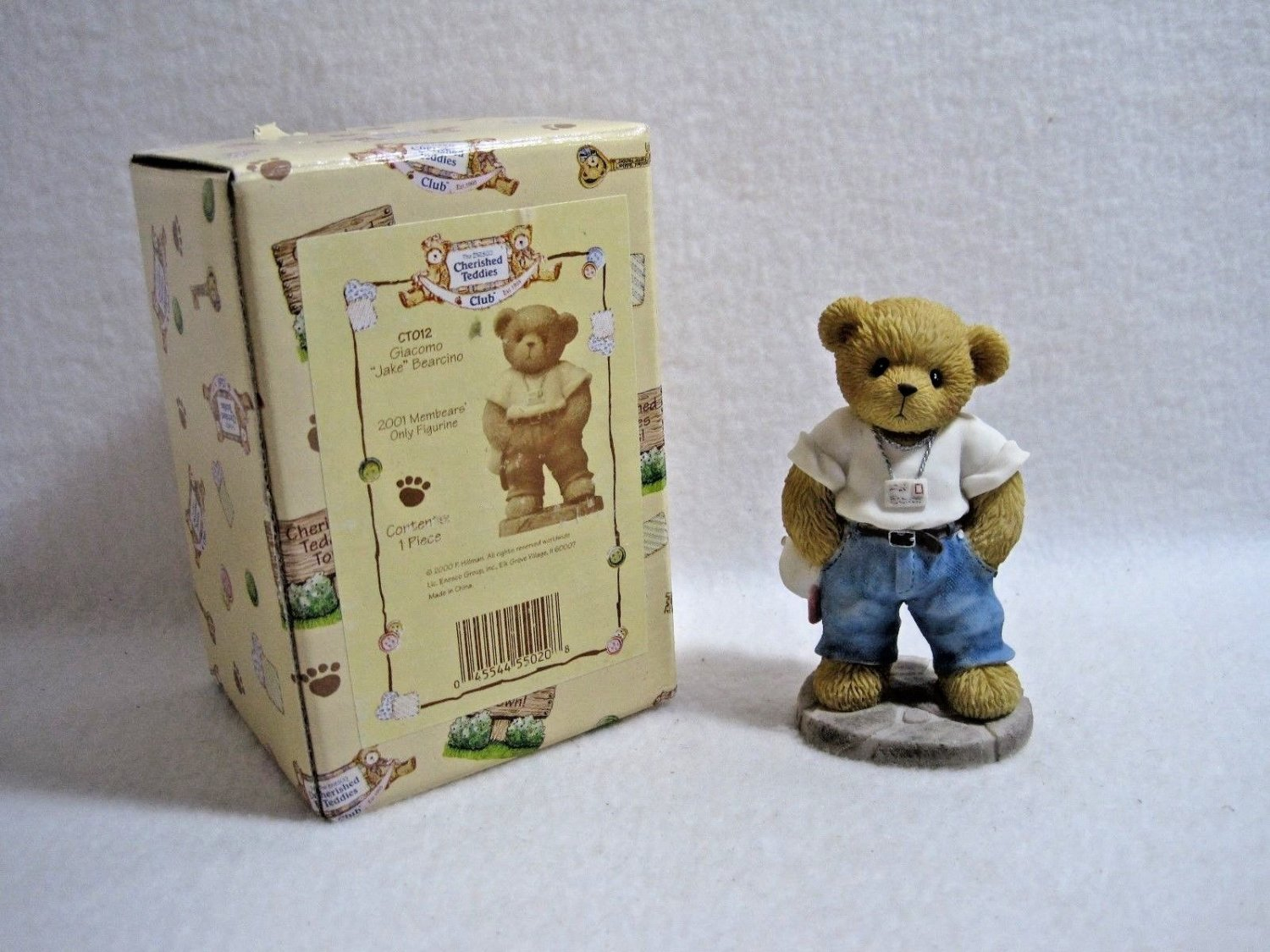 "Cherished Teddies - Giacomo ""Jake"" Bearcino Figurine CT012"