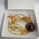 Multi Color Earrings and Bracelet Set