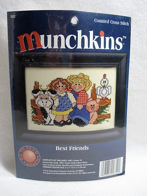 Best Friends - Munchkins Counted Cross Stitch Kit