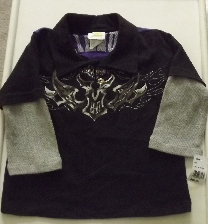 "Boy's Pullover Shirt ""Lola & James"" 2yrs"