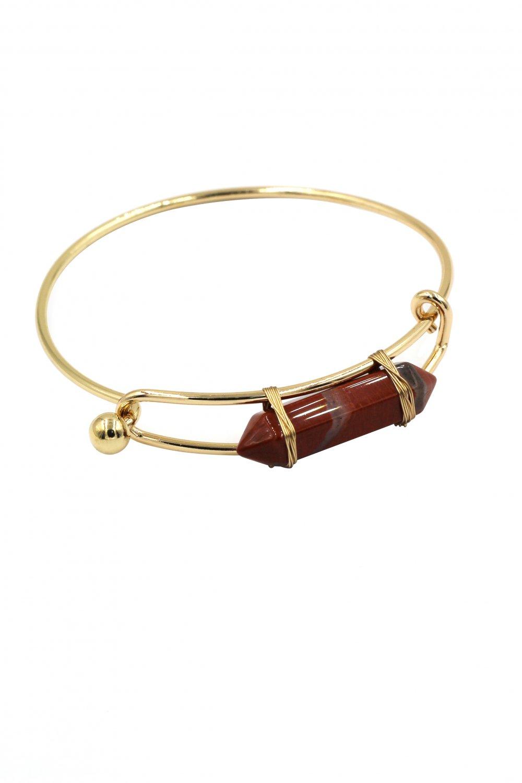 Fashion red crystal golden bracelet