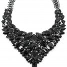 Fashion colorful black crystal necklace