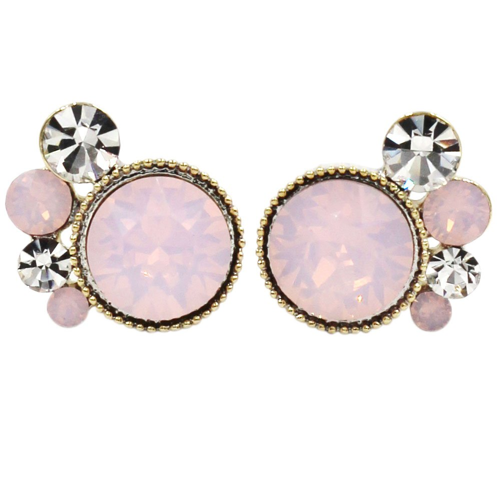 Lovely pink crystal little feet earrings