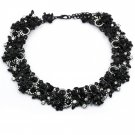 Fashion beautiful multicolor black crystal necklace
