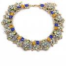 Fashion beautiful multicolor orange crystal necklace