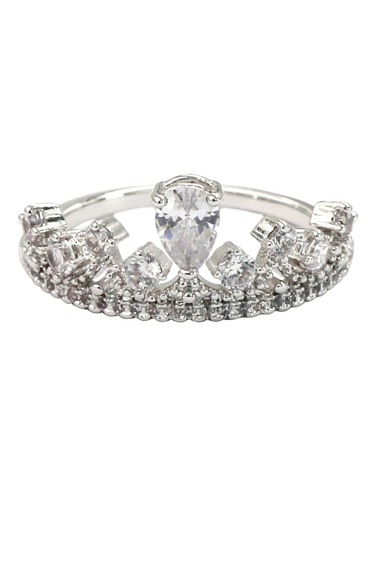 Sweety silver crystal ring