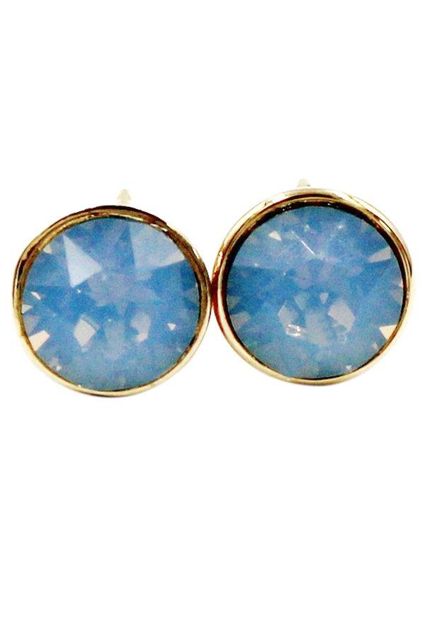Simple blue crystal earrings