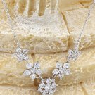 Mini crystal flowers clavicle Sterling Silver Chain silver necklace