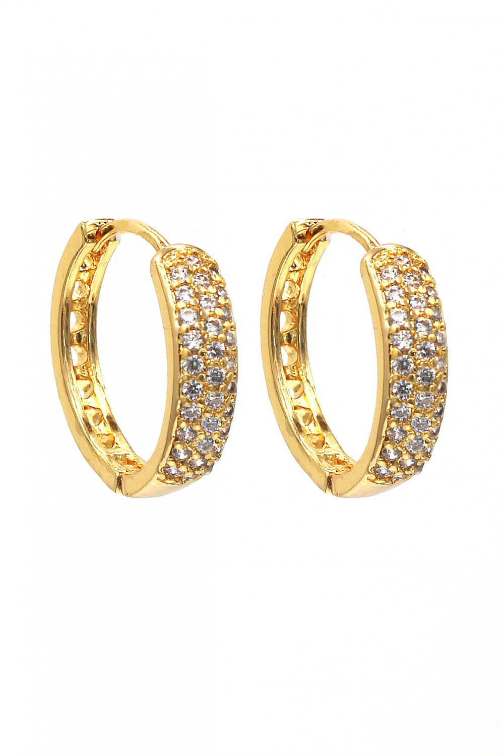 Fashion small crystal circle earrings