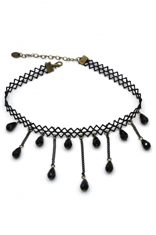 Fashion braided drop pendant choker