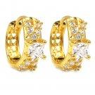 Lovely crystal gold earrings