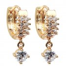 Fashion cabinet pendant crystal gold earrings