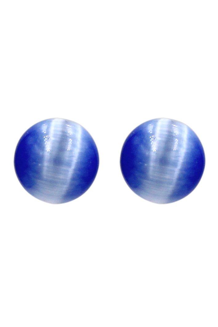 Fashion ball silver needle earrings
