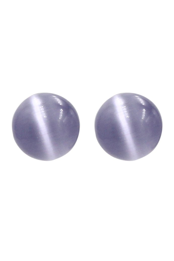 Fashion purple ball silver needle earrings