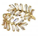 Fashion Crystal inclusive gold ring
