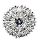 Fashion sparkling crystal silver ring