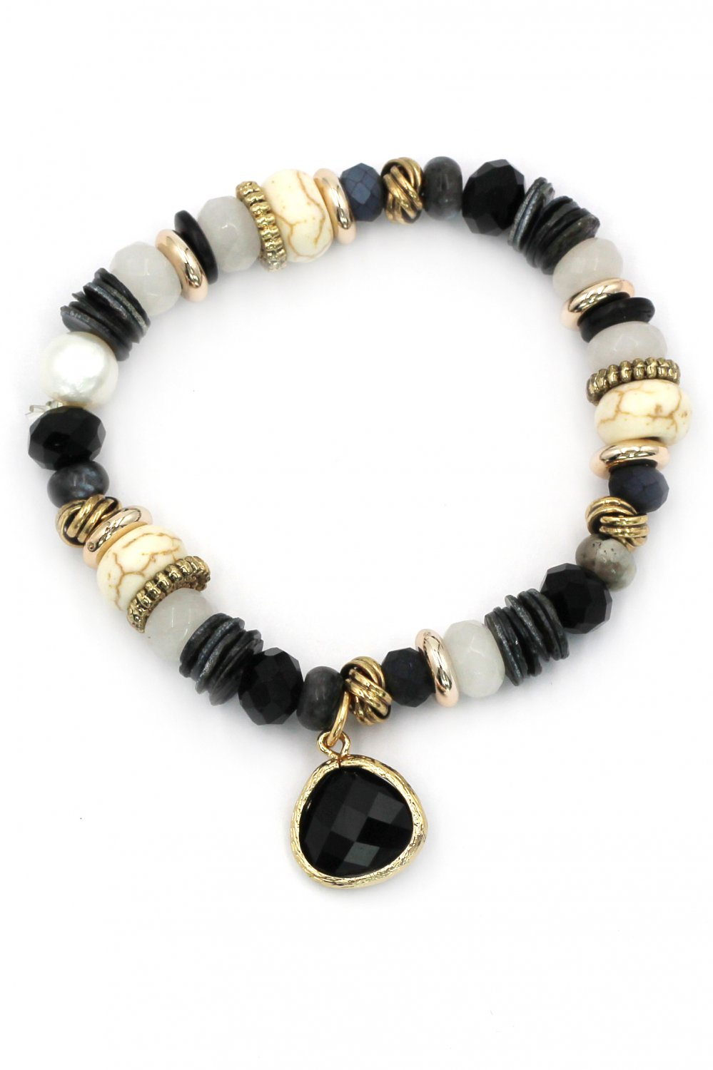 Colorful natural black bracelet