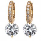 Fashion hook crystal golden earrings