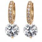 Fashion hook crystal golden earrings