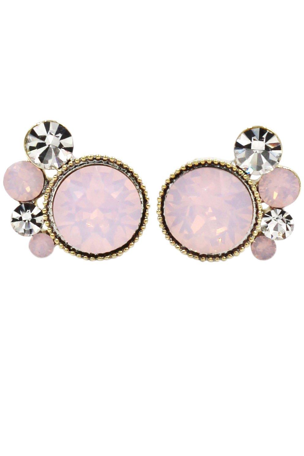 Lovely pink crystal little feet earrings