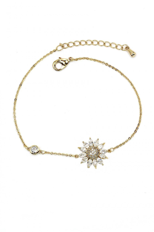 Delicate crystal sun gold bracelet