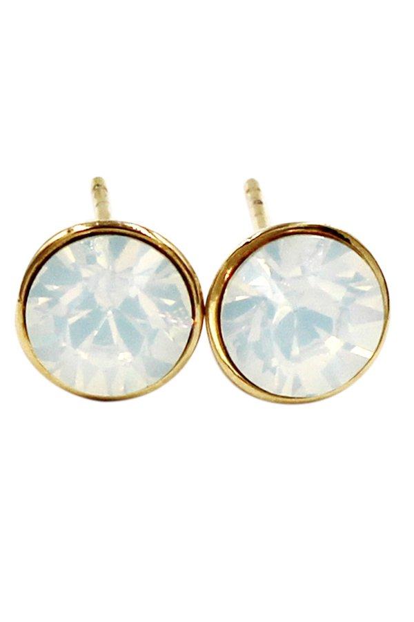 Simple white crystal earrings