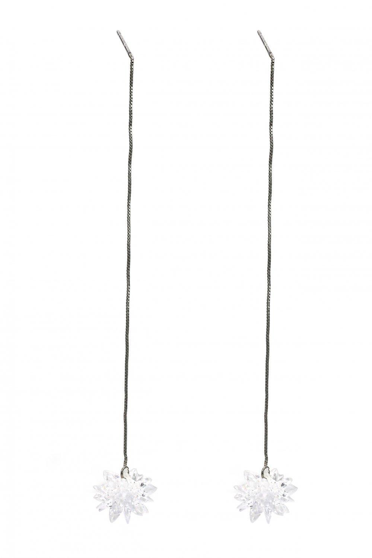 Fashion pendant crystal snow long earrings
