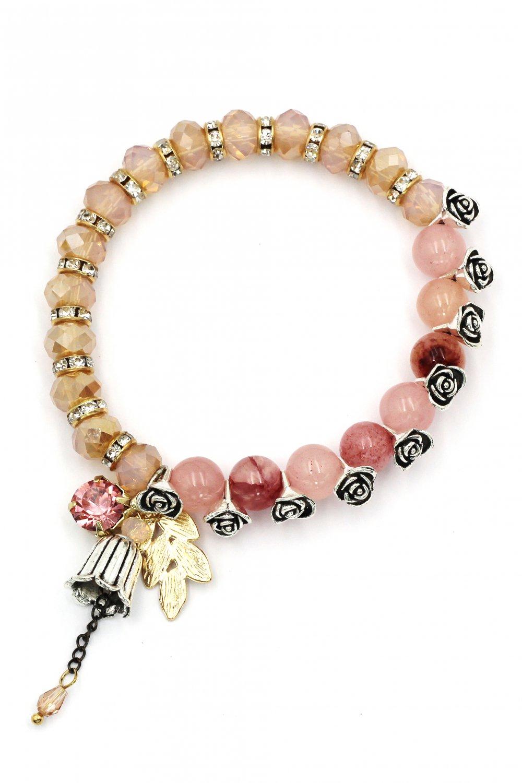 Cool beads of rose bracelet