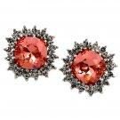 Bright sun crystal earrings