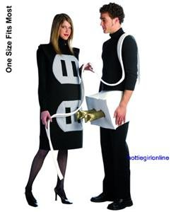 Plug & Socket Couples Adult Halloween Costume