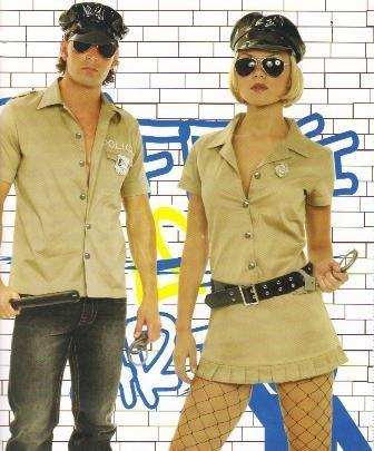 Corrupt Cop Couples Adult Halloween Costume