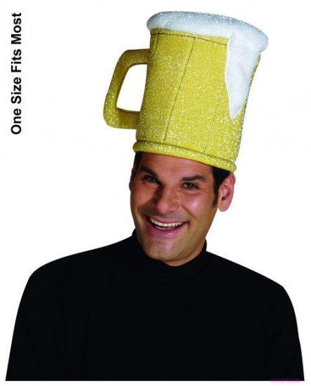 Adult mens beer mug hat halloween costume