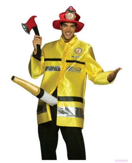 Fireman fire extinguisher mens halloween costume