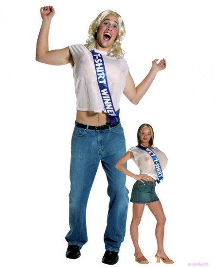 Wet T-Shirt Winner Hilarious Mens Halloween Costume