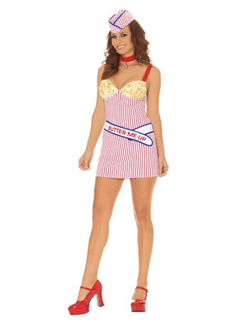 Movie Theater Buttered Popcorn Girl Adult Halloween Costume