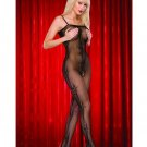 Fisnet Stretch Lace  Crotchless Bodystocking
