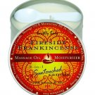 Earthly body massage oil moisturizing candle in earthy frankin