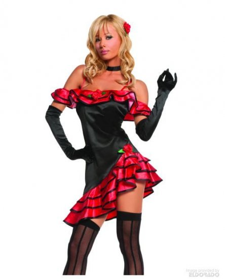 Spainish Loita Dancer Sexy Dress Costume