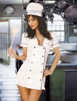 hot chef small thru plus adult womens halloween costume