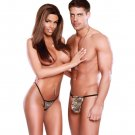 Exposed For Couples Almost Commando Women's G-String & Men's Pouch G-String Camouflage o/s