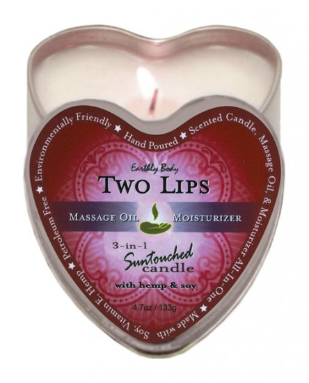 Earthly body 3 in 1 candle - 4.7 oz two lips