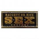 Naughty or nice sex coupon book