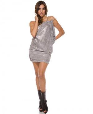 large extra large animal print mini dress foreplay brand chain strap