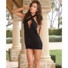 Small medium black dress halter  tube club wear top over leggings or skinny jeans