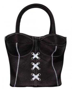 Black Vintage style Corsette Bag or purse