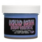 blue two ounce jar liquid latex body paint pastease