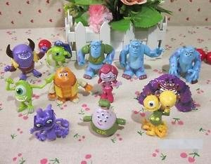 12pcs Set Resin Monsters University Mike Sully PVC Figure Toy Loose Collectibles
