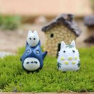 2pcs Snow My neighbor totoro Figure Cat Fairy Garden Accessories, Miniature  Toy